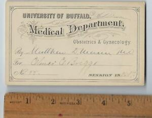 President Mckinley Assassination Dr Matthew Mann Signed Medical Lecture Ticket