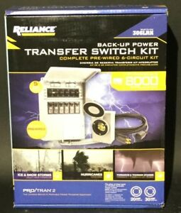Reliance 306lrk Back up Power Transfer Switch Kit Complete Pre wired 6 Circuit