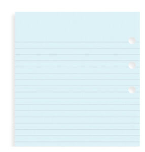 Filofax Personal Size Blue Ruled Notepaper 30 Sheets 133001