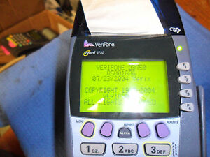 Verifone Omni 3750 Credit Card Processor