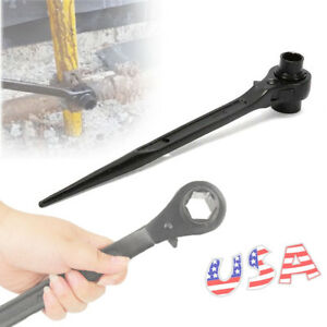 3 4 X 7 8 Dr Dual Socket Drive Spud Ratchet Wrench Handle For Aligning Bolts