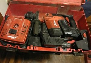 Hilti Hammer Drill Te5 a W charger 2x Batteries Case Battery Charger Adapter
