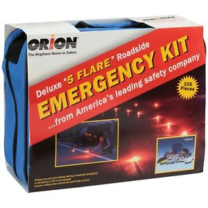 Orion Deluxe 5 Flare Roadside Emergency Kit Mini Car Survival Kit