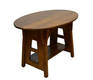 Limbert Antique Quartersawn Oak Mission Accent Side Center Table