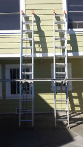 2 Sunset Ladders 2 Stinson Ladder Jacks 1 Stinson Scaffold Plank Made In Usa