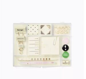 Kate Spade New York Office Supply Tackle Box Office Supplies Desk Clips Pins New
