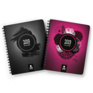 Lucky Life Planner 2019 Goal Daily Weekly Monthly Agenda Journal Black Pink