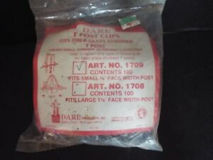 Dare T Post Clips Art No 1709 100 Count Fits Fiber Glass Studded T Post 5 8