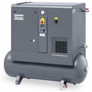 New 7 5 Hp Atlas Copco Gx5 Rotary Screw Air Compressor Warranty Included