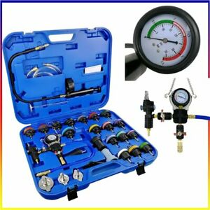 28pc Radiator Pressure Tester Test Kit Coolant Vacuum Purge Refill With Adapters