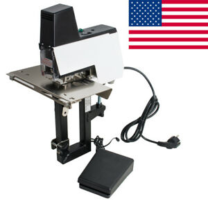Usa Ship auto Rapid Stapler Flat saddle Binder Book Binding Machine W foot Pedal