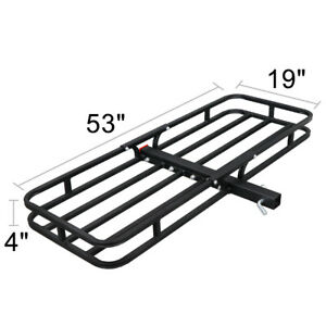 Universal 53 Black Rack Extension Cargo Luggage Hold Carrier Basket 2 Hitch