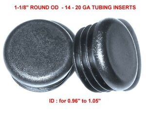 1 1 8 Od Round Plastic Plugs 14 20g 0 96 1 105 Id 1 125 Inch Tube End Caps