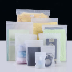 Cpe Plastic Soft Seal Bags Clear Matte Jewelry Clothing Packing Pouch