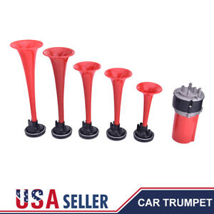 5pcs 125db Trumpets Musical Dukes Of Hazzard Dixie Car Horn Kit Air Compressor