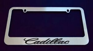 1 Cadillac Chrome Plastic License Plate Frame