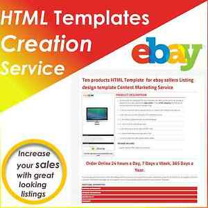 Html Templates Ebay Sellers Tools 20 Products Listing Responsive Design Service