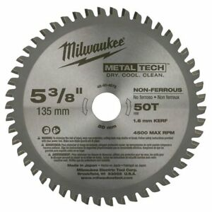 Milwaukee 48 40 4075 5 3 8 X 50t Non ferrous Metal Blade New