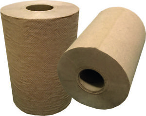 Huskypapers Natural Brown Paper Towel 2 Core 350 Ft Roll 12 case