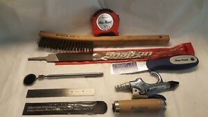 Snap on blue Point Toolstape Measure Putty Knife mirror blow Gun Brush More