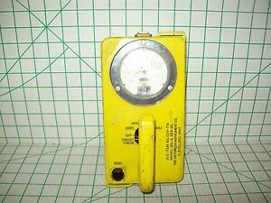 Vintage Victoreen Model No 1a Geiger Counter Radiation Survey Meter Cdv 715