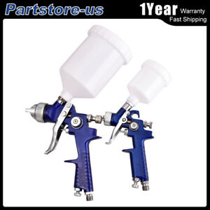 2 Hvlp Air Spray Nozzle Gun Kit Gravity Feed Touch Up Paint Sprayer Gun 30 80psi
