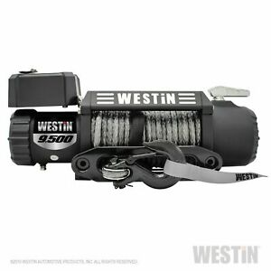 Westin 47 2103 Off Road 9 5s Waterproof Winch W Synthetic Rope T Max 9 500 Lbs