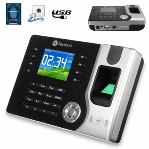 2 4 Biometric Tft Fingerprint Attendance Time Clock Recording Tcp ip Usb Sd