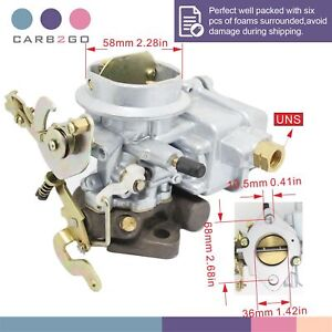 Holley Type 1barrel Downdraft Carburetor Universal Jeep Willys Cj3b Cj5 Cj6 134
