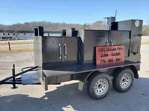 Rotisserie Pro Double Gril Master Bbq Smoker Grill Trailer Food Truck Concession