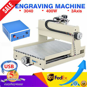 Usb 3 Axis 400w 3040 Desktop Router Engraver Engraving Milling Machine Carving