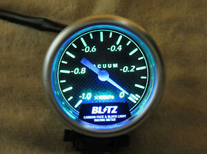 Blitz Carbon Face Black Light Vacuum Gauge Meter Blm