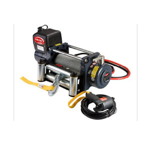 G Universal Kds 12 0c 12000lb Pound Recovery Electric Winch 12v Steel Cable Rope
