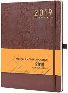 2019 Planner With Pen Holder Weekly Monthly Planner 8 5 X 11 Thick Paper