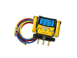 Bundle Fieldpiece Sman360 3 port Digital Manifold W Yellow Jacket 29985 Hoses