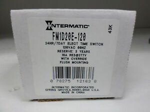 Intermatic Electronic Timer Switch 120 V 16 A Fm1d20e 120