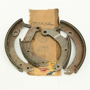 Fits 33 1933 Chevy Eagle Mercury Cb 1 2 Ton Truck Brake Shoe Set Nors