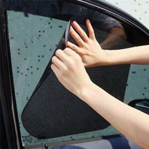 2x Car Auto Side Window Mesh Film Windshield Net Sun Shade Sticker Uv Protebius