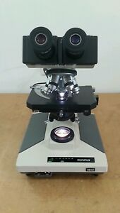 Olympus Microscope Bh2 With 100w Lamphouse And 50 Oil