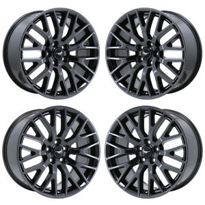 19 Ford Mustang Gt Black Chrome Wheels Rim Factory Oem Set 10036 10038 Exchange