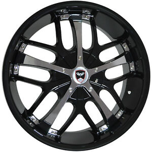 4 Wheels 18 Inch Black Chrome Savanti Rims Fits Jeep Commander 2006 2010