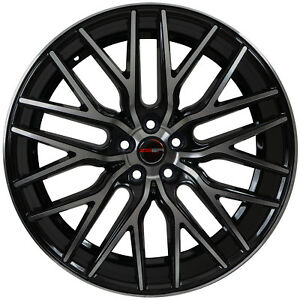 4 Gwg Wheels 22 Inch Black Machined Flare Rims Fits Chevy Camaro Rs 2010 2015