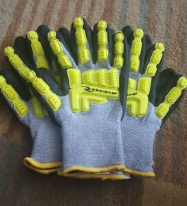 Ridians Oil Field Insulated Impact Mechanic Gloves Set Of 3 Pairs