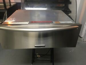 Kitchenaid 30 Stainless Steel Commercial Countertop Food Warmer Drawer Tested