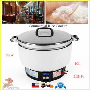 10l Commercial Rice Cooker Natural Gas Food Cooker Warmer For 50 60people 2 8kpa