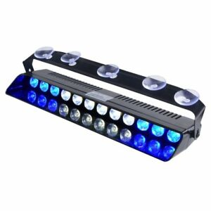 13in Emergency Light Blue White Bright Led Strobe Lighting Volunteer Firefighter