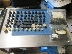 New Lot Of 100s Black Rubber Laboratory Stoppers 3 1 2 Lbs 1 Lb 00 1 Lb 1