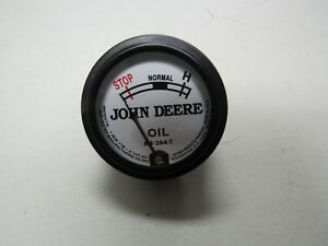 John Deere M Tractor White Faced Oil Pressure Gauge Am284t 9300
