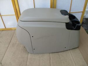 99 07 Ford F250 F350 Pickup Center Floor Drink Cup Holder Storage Console Tan