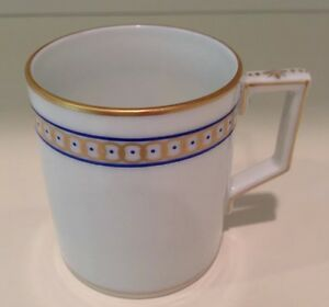 Hochst Hand Painted Porcelain Gold Circles Espresso Cup Made In Germany New